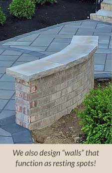 custom stone seating