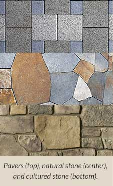 patio pavers and natural stone examples